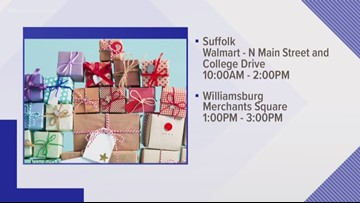 Two Hampton Roads police departments collecting toys for kids