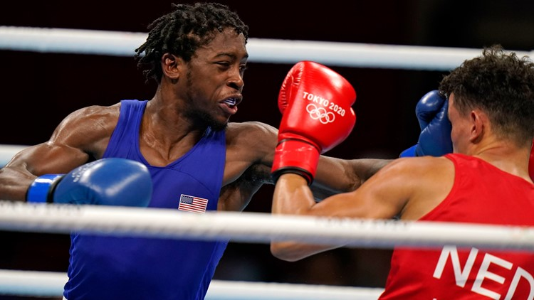 Norfolk's Davis takes 1st round fight at Tokyo Olympics