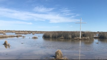 Cross in marsh sparks intrigue in Poquoson