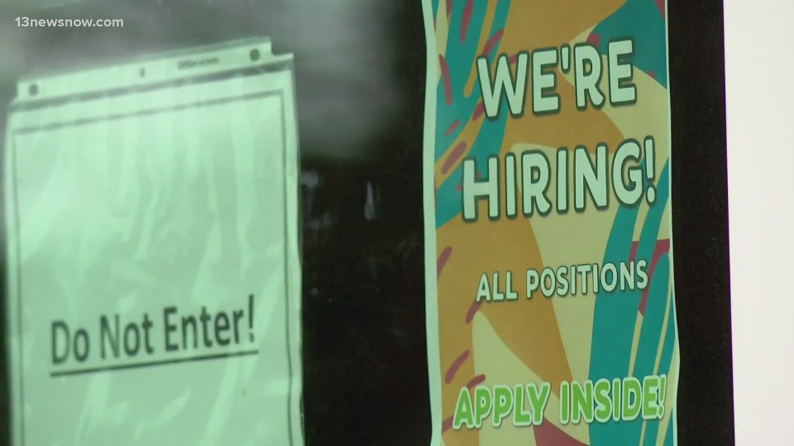 Virginia mayors say unemployment benefits to blame for workforce shortage, restaurant closures