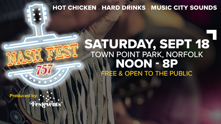 This Weekend: NashFest757 Music and Food Festival at Town Point Park