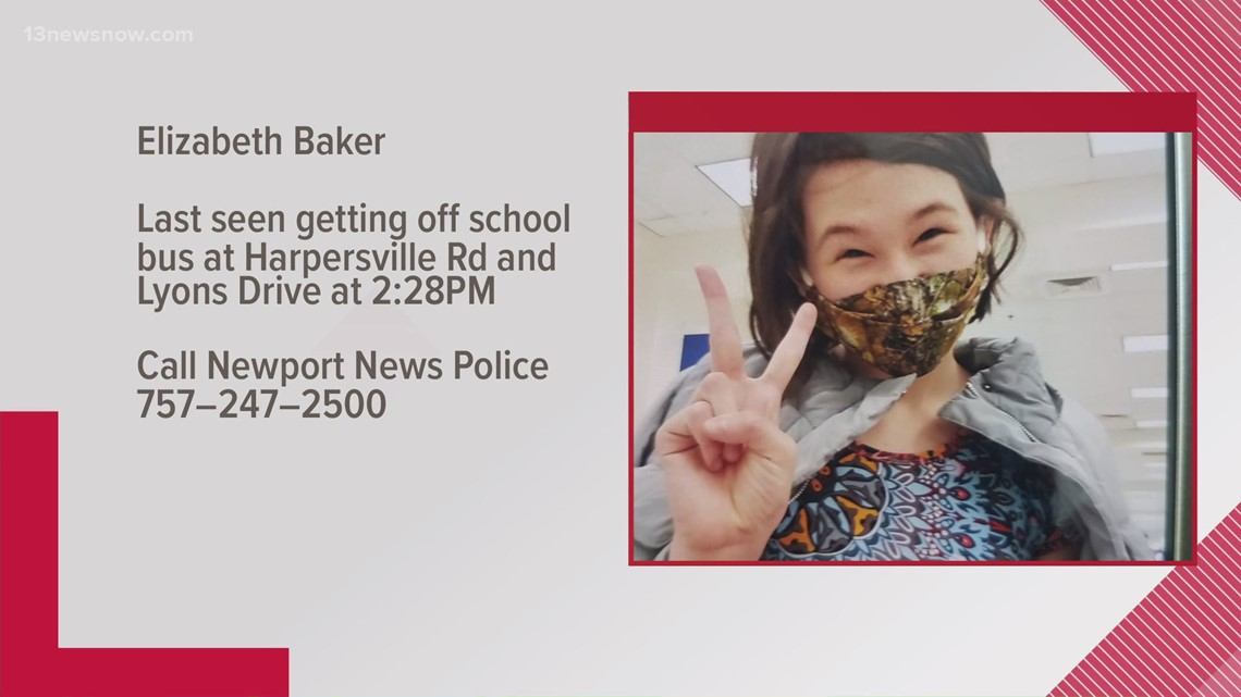 14-year-old Newport News girl missing; police worried about her safety