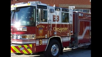Fire in Chesapeake displaces one person, injures dog