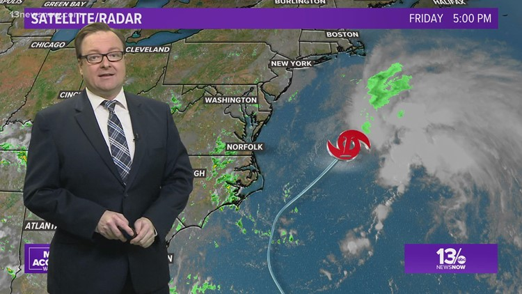 Tropical Storm Odette forms off Virginia coast