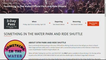 'Something in the Water' festival organizers urges people to use shuttle