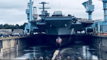 John F. Kennedy aircraft carrier to be christened