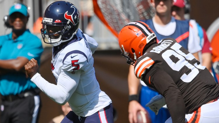Texans' Taylor injures hamstring; lose to Browns