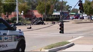 Serious crash shuts down part of E. Little Creek Road in Norfolk