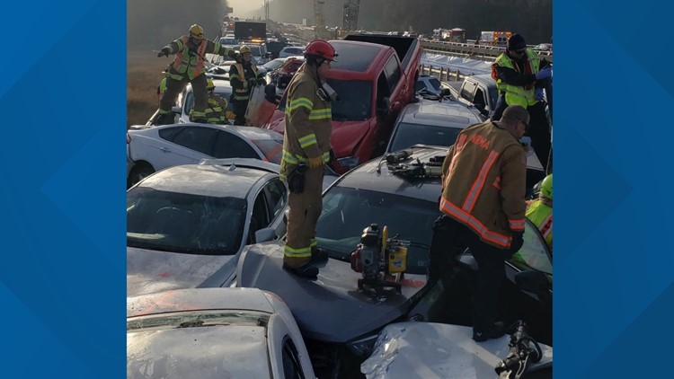 35 vehicles were involved in a crash on Interstate 64 in York County