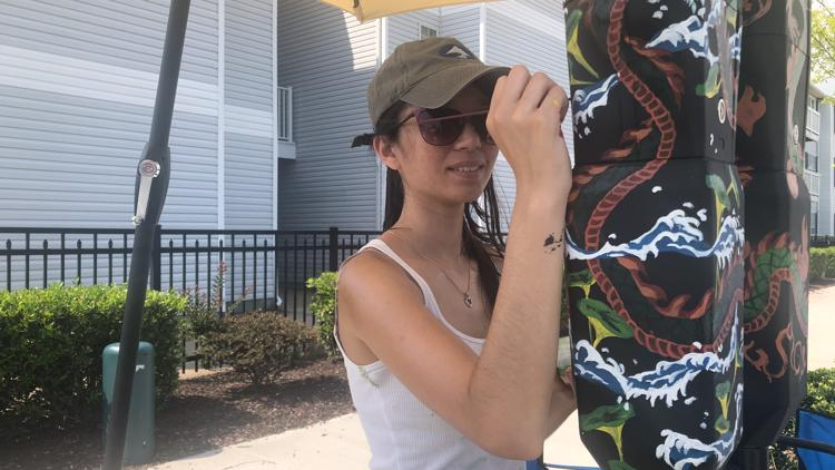 Parking meter art project underway in Virginia Beach's ViBe District