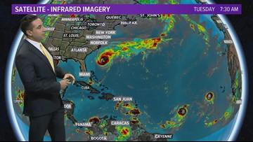 TROPICS UPDATE: Hurricane Humberto, Tropical Storm Imelda, Tropical Depression #10