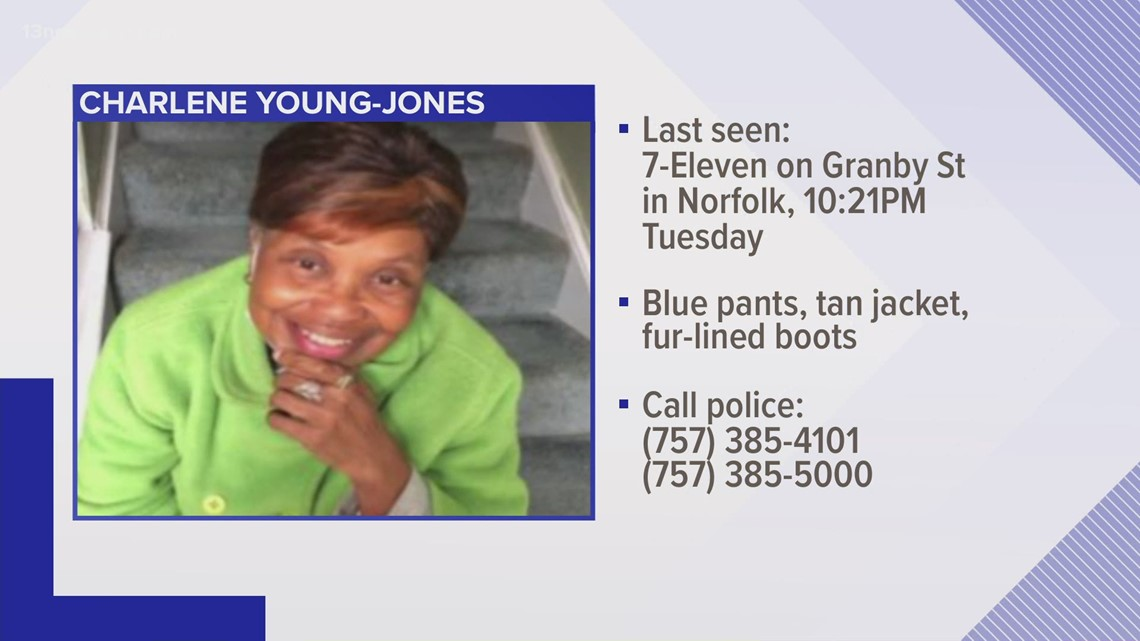 SENIOR ALERT: Virginia Beach police searching for missing woman with cognitive impairments