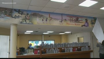 Wells Fargo mural honors Virginia Beach history