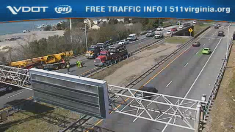 I-64 in Ocean View back open after crane truck crash | 13newsnow com