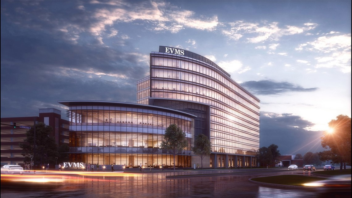 construction begins on new evms building