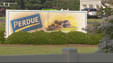 Employees evacuated after fire breaks out at Eastern Shore Perdue plant