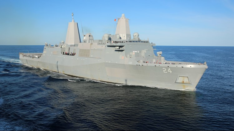 San Antonio Gas Prices >> USS Arlington leaves for Fleet Week | 13newsnow.com