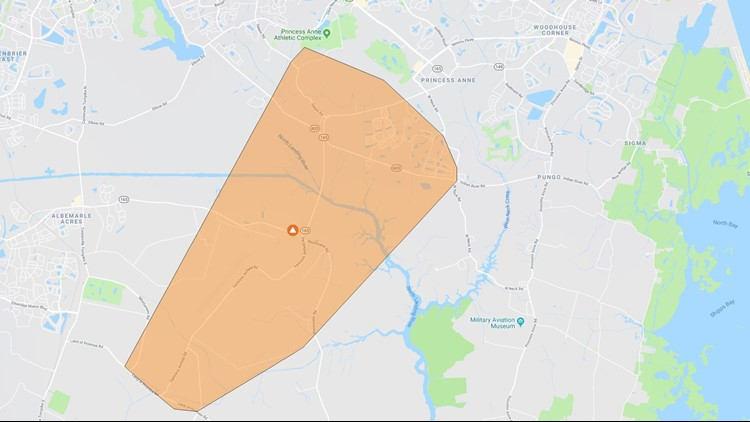 Power Outage Map Virginia Beach.Truck Hit Power Pole Over 1 200 Virginia Beach Customers Were