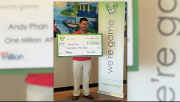 Chesapeake man wins $1M from Virginia Lottery 'Bank a