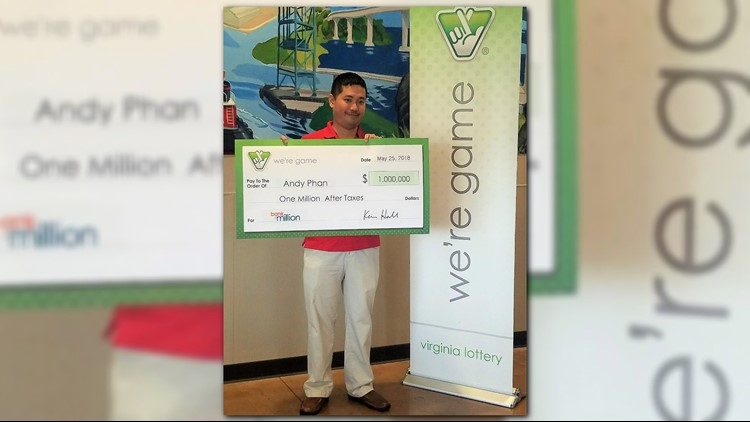Chesapeake man wins $1M from Virginia Lottery 'Bank a Million