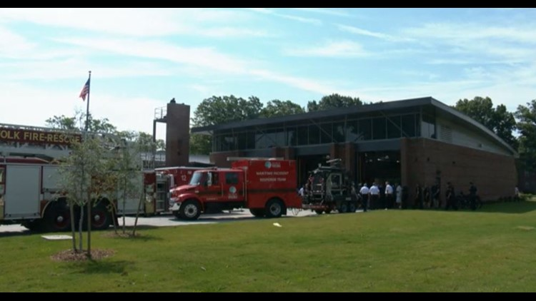 A new fire station was dedicated in Norfolk on Wednesday.
