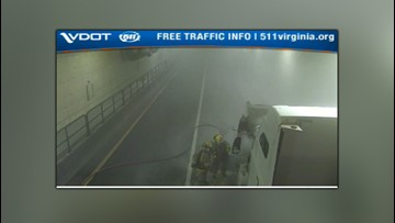 Midtown Tunnel back open following tractor-trailer fire