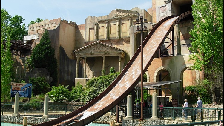 A Small Fire Damaged The Escape From Pompeii Water Ride At Busch Gardens  Williamsburg On Saturday