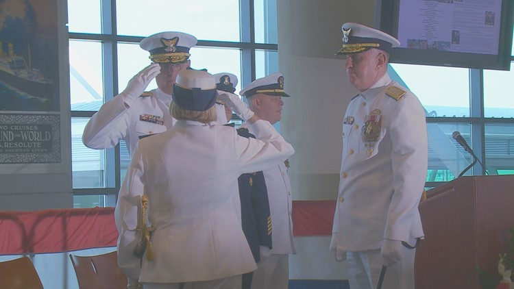 Rear Admiral Keith Smith is taking over from Rear Admiral Meredith Austin.