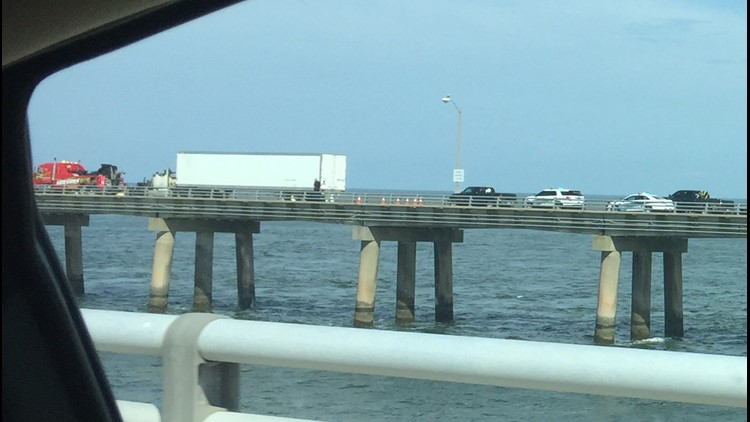 The Chesapeake Bay Bridge-Tunnel was closed to all traffic due to a tractor trailer fire.