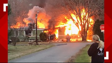 Truck crashes into Wachapreague mobile home, starts fire