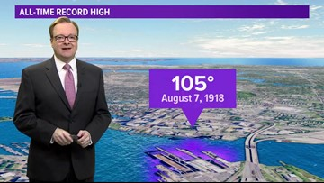 This week in weather history, Norfolk set an all-time record high