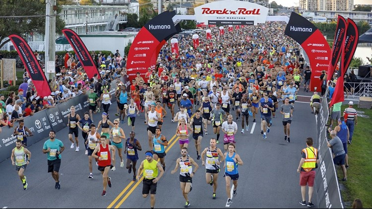 Runners aged 12 to 83 hit the pavement and ran 13.1 miles in the Humana Rock 'n' Roll Virginia Beach Half Marathon.