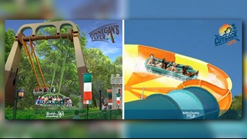 New rides under construction at Busch Gardens, Water Country USA