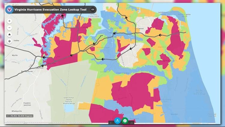 Coastal Virginia Map.Gov Northam Lifts Evacuation Order For Coastal Virginia 13newsnow Com