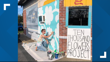 Community comes together to paint mural in ViBe District
