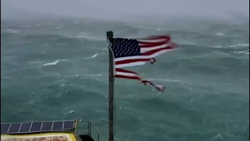 Ohio family purchases US flag shredded by Hurricane Florence