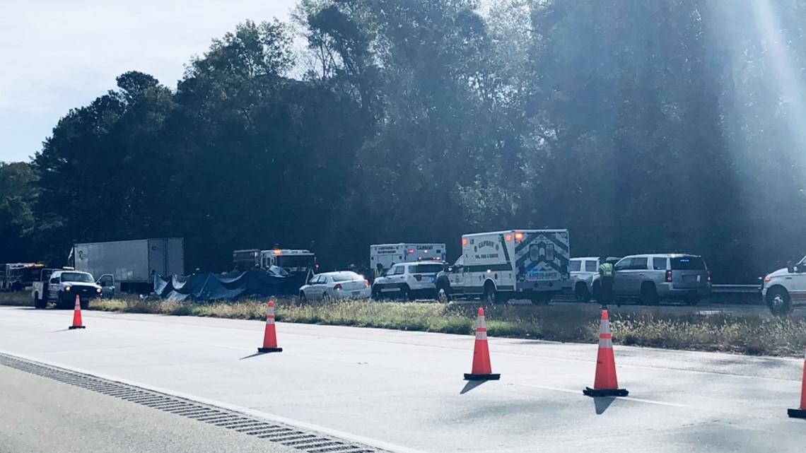PHOTOS: Deadly crash on Route 58 in Southampton County
