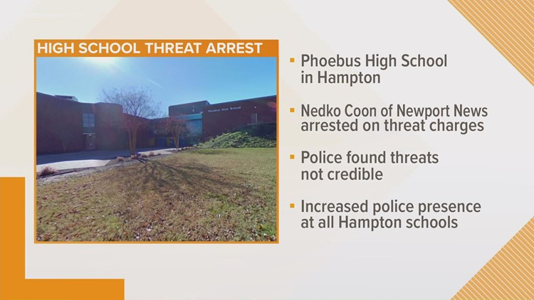 Arrest made following Phoebus High School threat