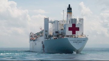 Hospital ship USNS Comfort coming home after 5-month deployment