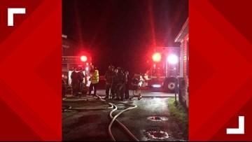 Ten displaced by Suffolk fire