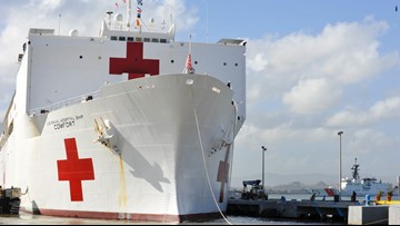 Hospital ship USNS Comfort returns home after mission in South, Central America