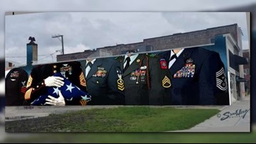 New NEON district mural honors veterans