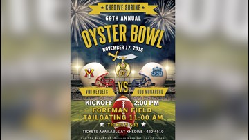 Annual Oyster Bowl kicks off Saturday at Foreman Field