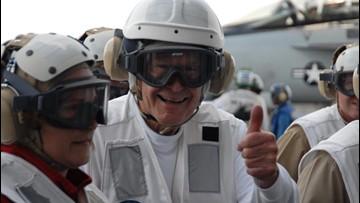 Bush remembered fondly at shipyard that built carrier bearing his name