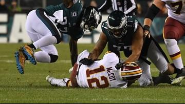 Redskins lose Colt McCoy and game to Eagles