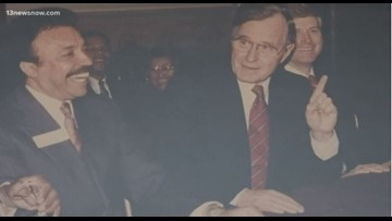 Hampton University President share memories of President George H.W. Bush