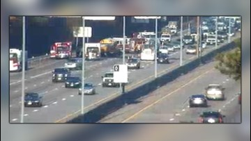 State Police: School bus rear ends dump truck on Interstate 64 in Newport News