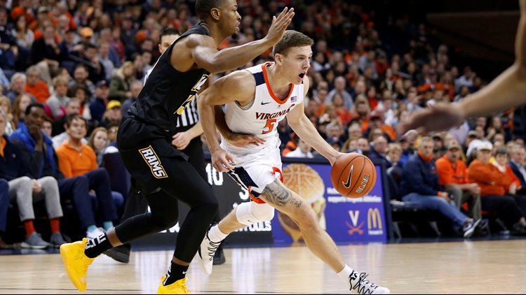 #4 UVA's 2nd half rally beats Rams
