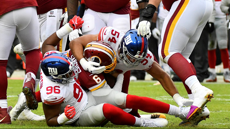 Redskins get crushed by Giants