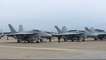 Truman air wing jets return to NAS Oceana, just in time for the holidays